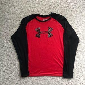 Under Armour heat gear long sleeve T-shirt YXL